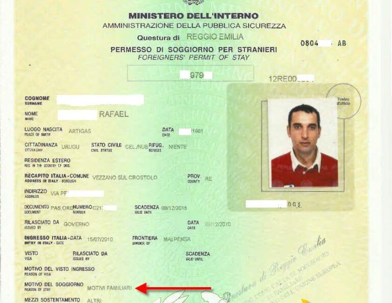 Questura rilascia permesso di soggiorno a uruguayano ...